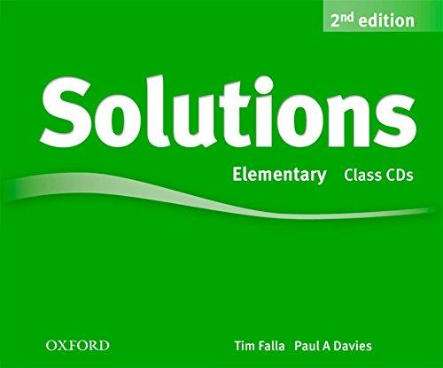 Solutions Elementary 2nd Ed Class CD