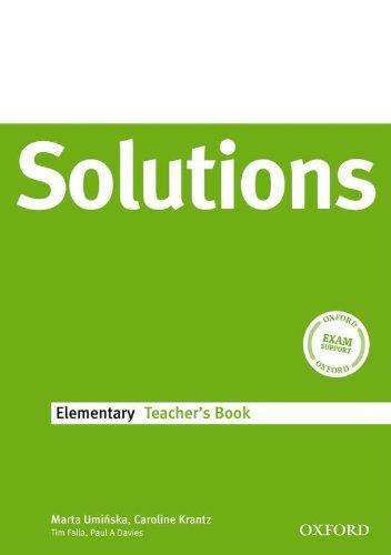 Solutions Elementary Teachers Book